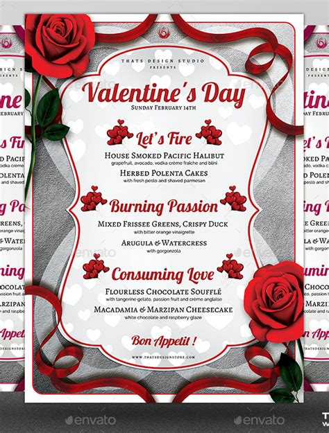 valentines menu template 41 valentines menu templates free psd eps format