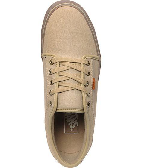 vans chukka low canvas gum skate shoes