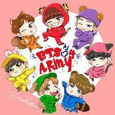 bts kartun bts kartun bts army indonesia amino amino