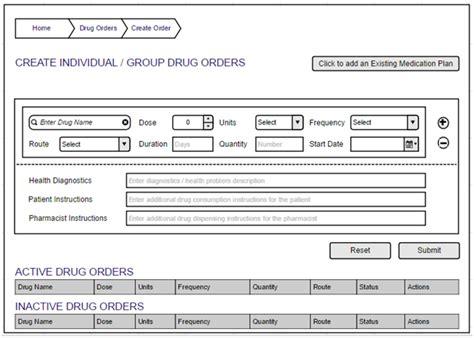 ui pattern order ui design feedback for drug order entry order sets
