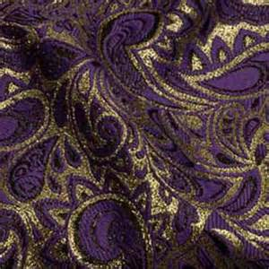 Rent Table Linens Wedding And Special Event Purple Amp Gold Paisley Brocade