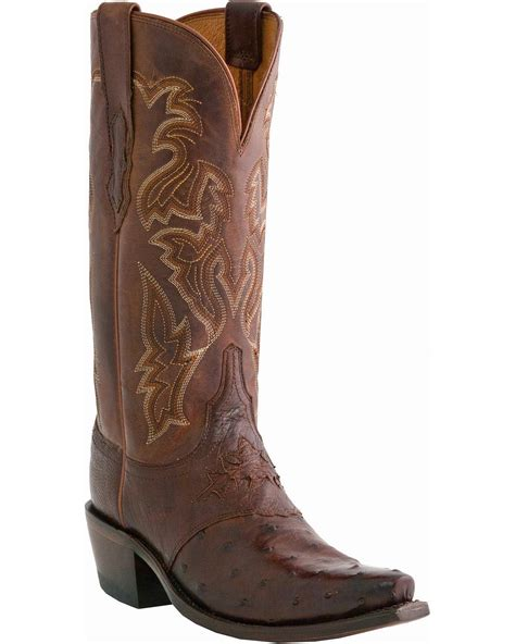 ostrich cowboy boots for lucchese s augusta quill ostrich boot