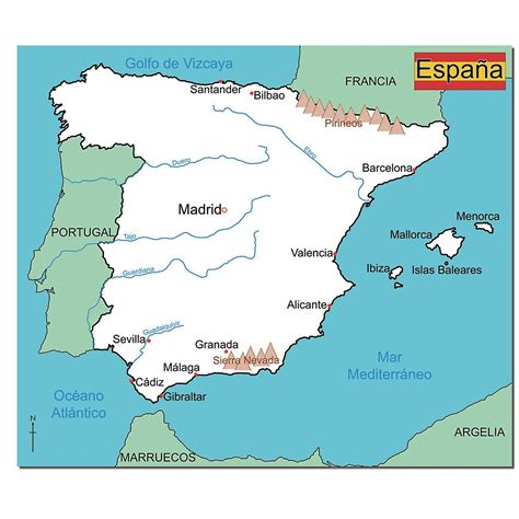 simple map simple map of spain education