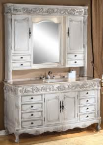 bathroom vanity with hutch 64inch darwin vanity single sink vanity antique ivory