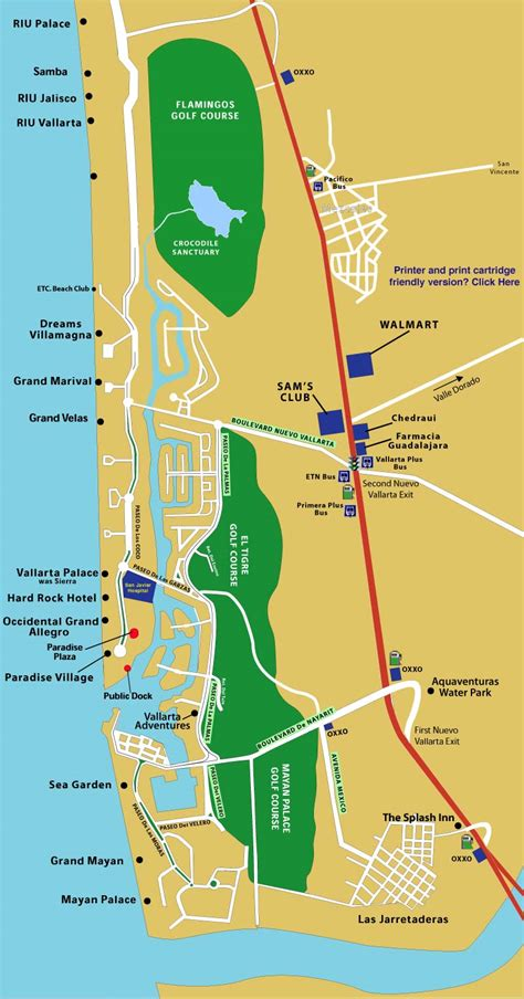 vallarta map of mexico nuevo vallarta map vallartainfo