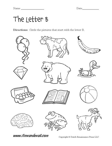 worksheets for preschool letter b letter b worksheet 2 tim van de vall