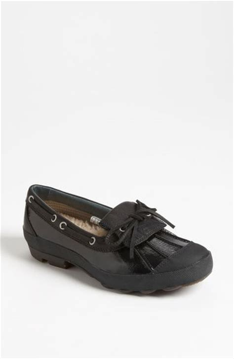duck shoes for ugg ashdale duck shoe in black black black lyst