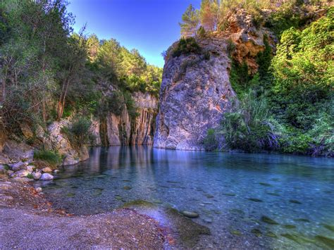 wallpaper river water rocks trees mountain river transparent water rock trees wallpapers13