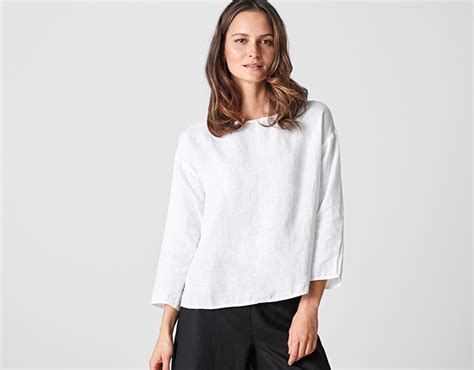 Shells Blouse Graypink Sml 40658 tunic tops and womens shirts eileen fisher