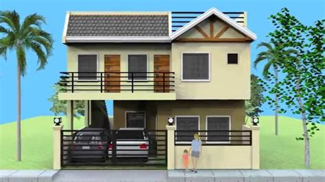 House Floor Plans For Narrow Lots by Small 2 Storey House With Roofdeck Youtube