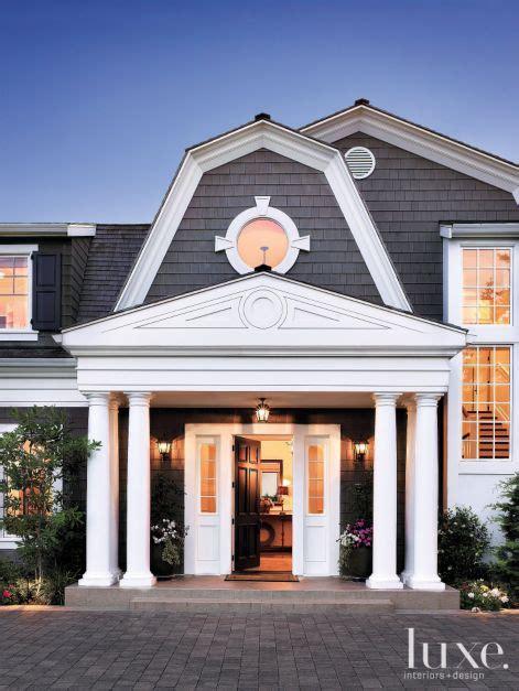 Gambrel Roof dutch colonial front door luxe interiors design