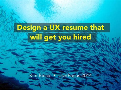 Resume Sles That Get You Hired design a ux resume that will get you hired