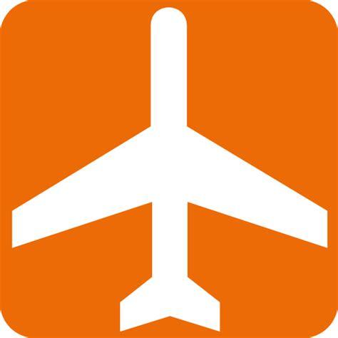 orange and white l black and white aeroplane with orange background clip art