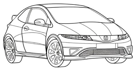 coloring pages honda cars honda civic type r coloring page teacher stuff