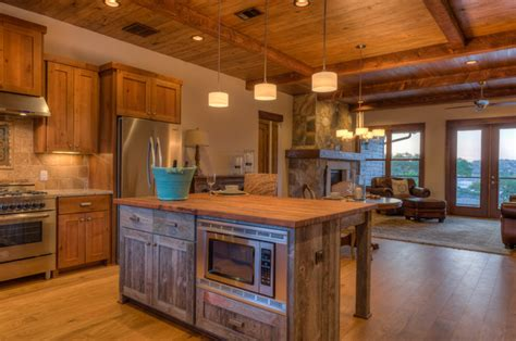 lodge kitchen rustic contemporary rustic kitchen austin by