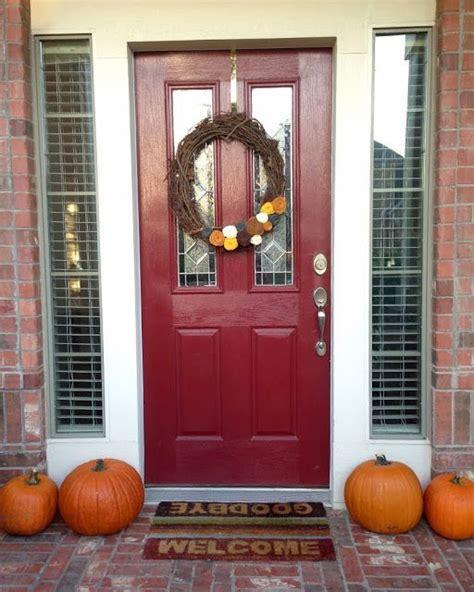 mid mod inspirations  front door fall pumpkins felt