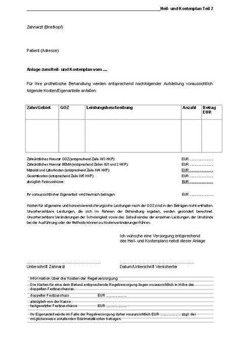 Muster Anschreiben Heil Und Kostenplan Heil Und Kostenplan Alles Was Sie Wissen M 252 Ssen