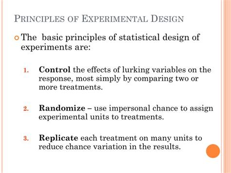 design of experiment in statistics ppt chapter 5 producing data powerpoint presentation