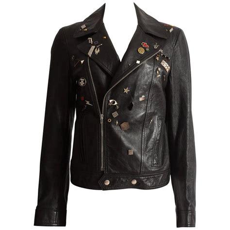 Aw Jacket laurent by hedi slimane black leather biker jacket