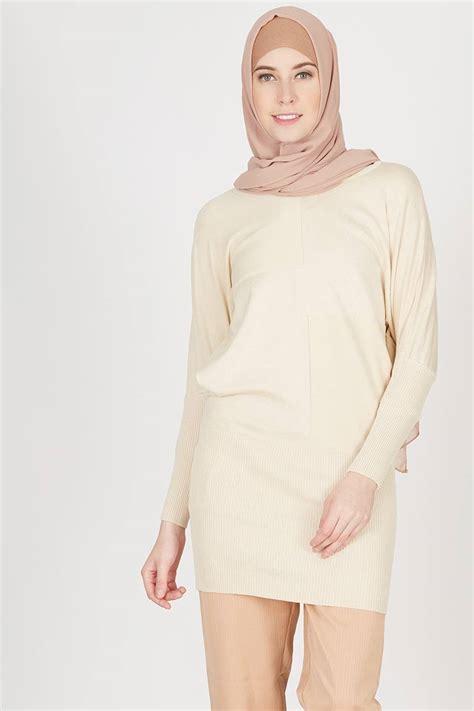 Produk Havva Tunik sell harald top khaki tops hijabenka