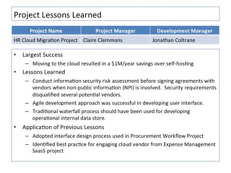 Closing The Project 10 Ways To Embed Lessons Learned In The Organizational Dna Projectconnections Project Lessons Learned Template