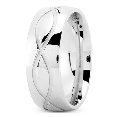 infinity mens wedding band wedding band s infinity engraved wedding ring 8 mm
