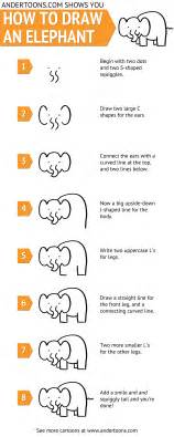 how to draw a doodle elephant elephant archives andertoons