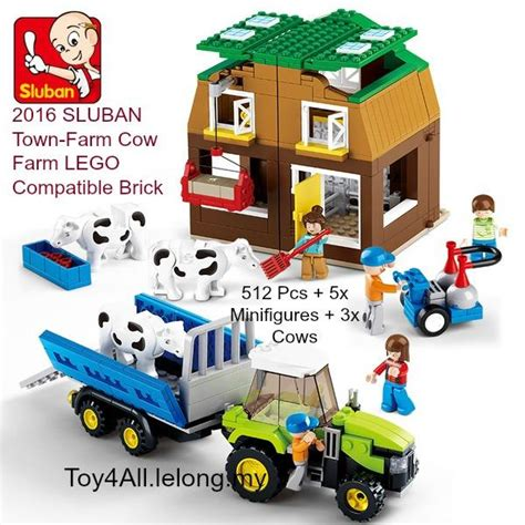 Lego Sluban City Town Store by 2016 Sluban Town Farm Cow Farm Lego Compatible Bri End 1