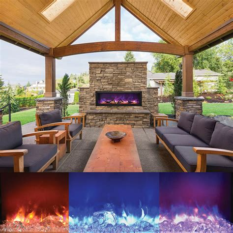 Outdoor Electric Fireplace Amantii Bi 50 Panorama 50 Inch Indoor Outdoor Electric Fireplace