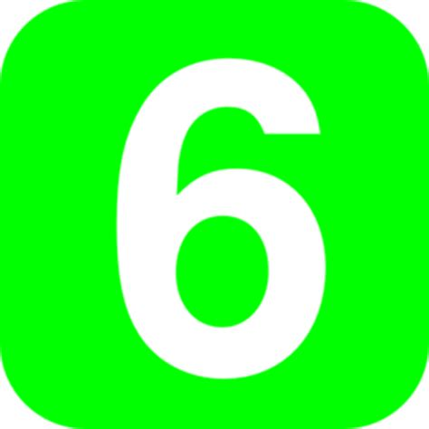 Number 6 Clipart number 6 green clip at clker vector clip royalty free domain