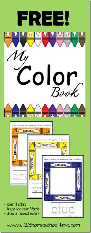 color of books free preschool my color book