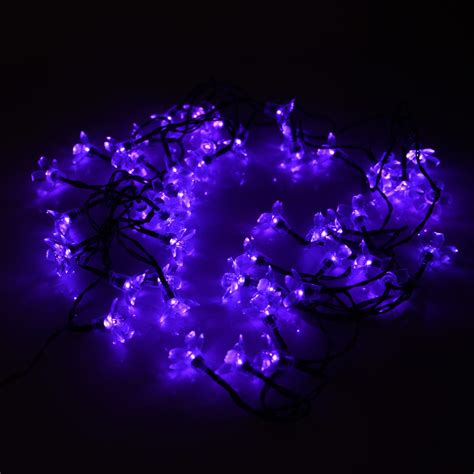 Solar Led String Lights Outdoor Solar Flower Shape String Lights Outdoor For