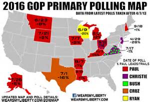 2016 republican primary election map polls foto