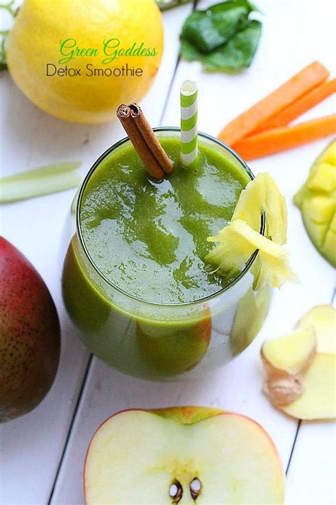 Paleo Detox Smoothie by Green Goddess Detox Smoothie Made Sweeter