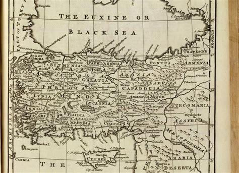 turkey archaeological sites map truthahn alte karte