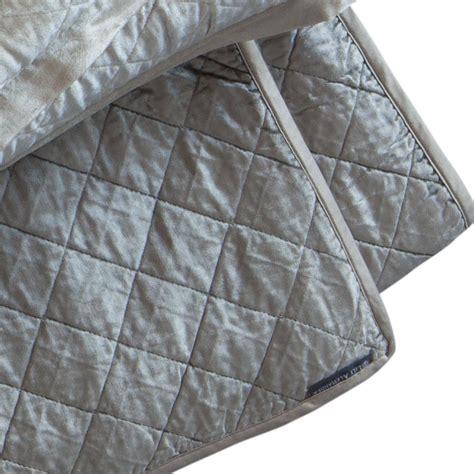 silver coverlet lili alessandra chloe diamond quilted ice silver velvet