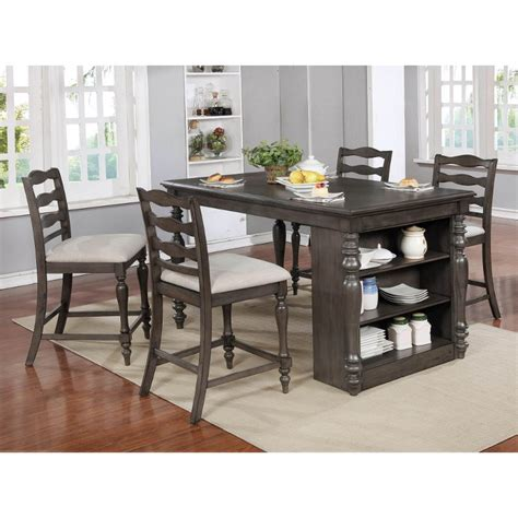 birch gray counter height dining room table theresa rc