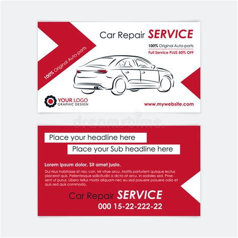 free repair business card template auto repair business card template create your own