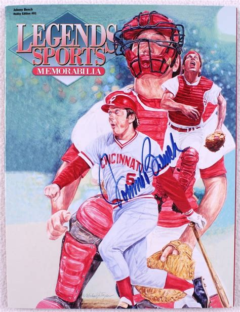 johnny bench memorabilia online sports memorabilia auction pristine auction