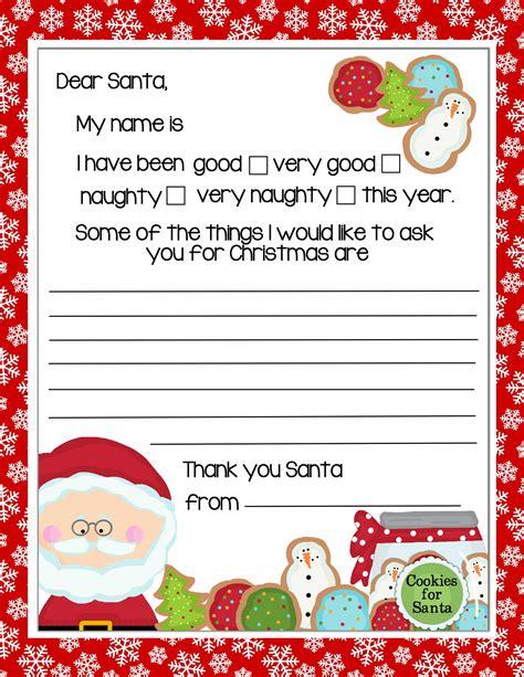 printable letter santa christmas cookies