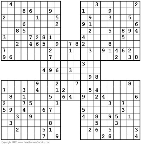 printable samurai sudoku hard samurai sudoku difficult pictures to pin on pinterest