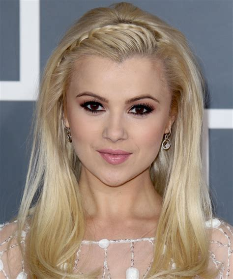 pics com of com light hair in front and shark in back mika newton long straight formal braided hairstyle light