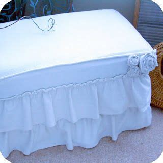 diy ottoman slipcover 17 best images about home decor on pinterest the cottage