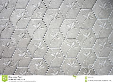 flower pattern concrete blocks cement block floor flower pattern background stock photo