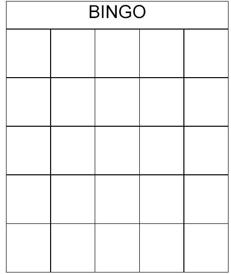 create your own bingo card template bingo card template description a series of bingo cards