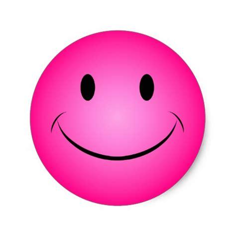 Smiley Aufkleber 40 Cm by Rosa Smiley Aufkleber Runder Aufkleber Zazzle