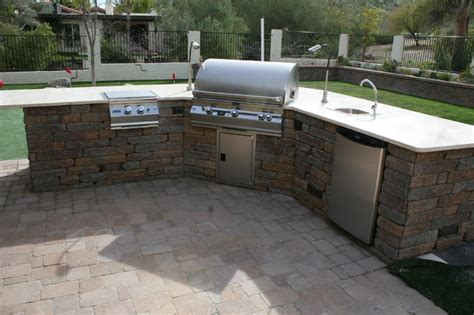 Custom Kitchen Island by Outdoor Bbq