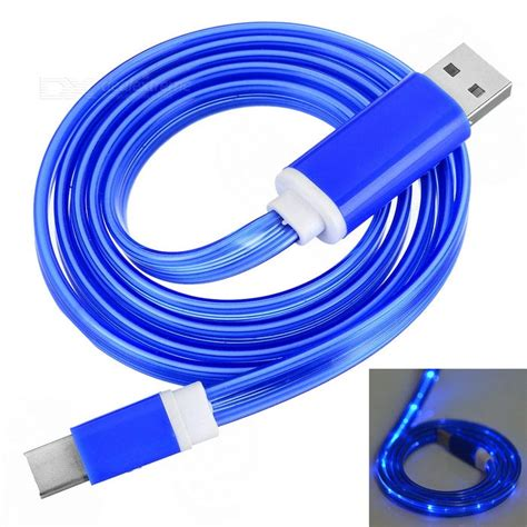 3 In 1 Charging Cable Tool Blue usb 3 1 type c data charging cable w blue led