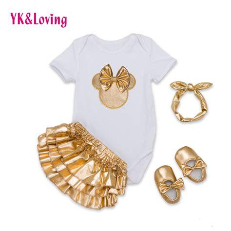 Kazel Tshirt Ruffle Black 4pcs infant brand baby 4pcs clothing sets 100 cotton sleeve bodysuit gold ruffles bloomers