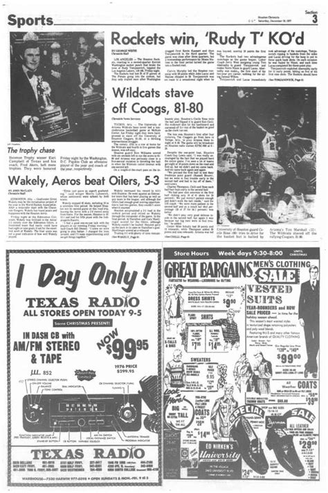 houston chronicle sports section from the archives rockets win rudy t ko d houston
